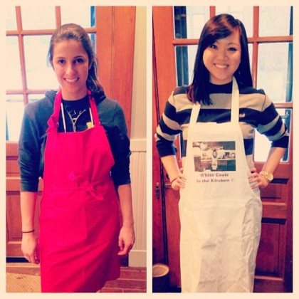 Busted out the aprons today! #nosplatterzone