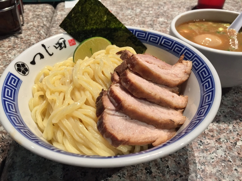 Thick, udon-like noodles with char siu